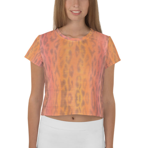 All-Over Ombre Leopard Print Crop Tee
