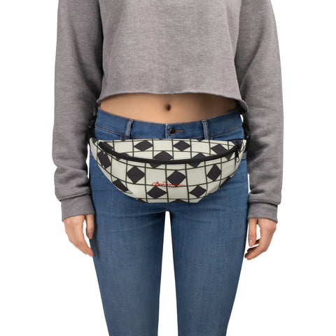 B&W Checkerboard Optical Fanny Pack