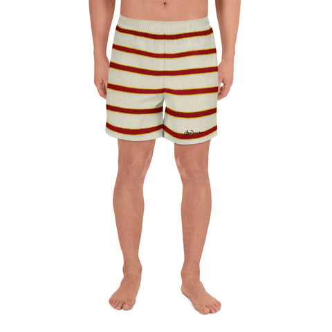 Red White Stripe Men's Shorts