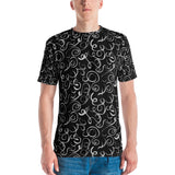 B&W Squiggles Men's T-shirt