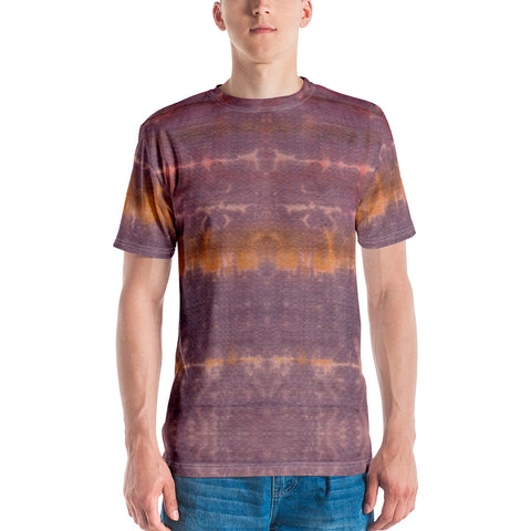 Purple Sunset Tie Dye Men's T-shirt