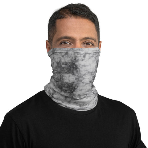 Face Mask MockTurtleneck Grey Tie Dye