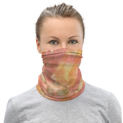 Face Mask MockTurtleneck Watercolor Smudge