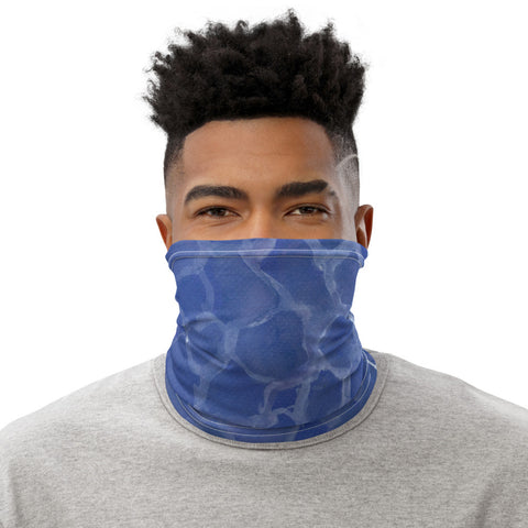 Face Mask MockTurtleneck Blue Pool