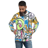 Unisex Bomber Jacket - Stop War Now Graffiti - Men