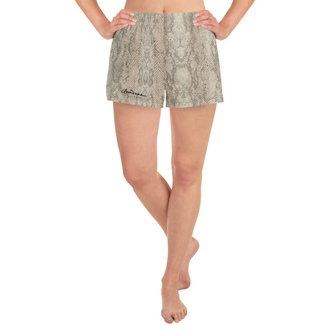 Women's Authentic Snake Skin Print Athletic Shorts