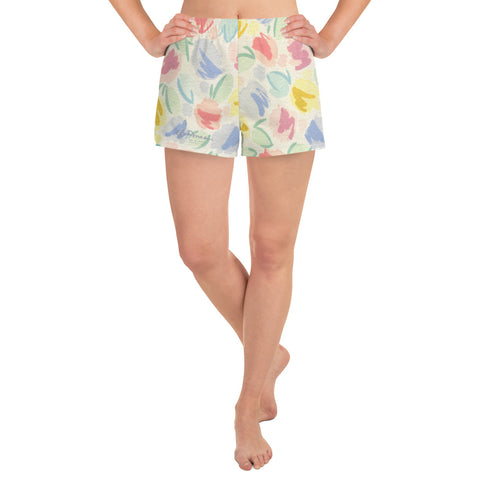 Women's Blurred Tulip Athletic Shorts
