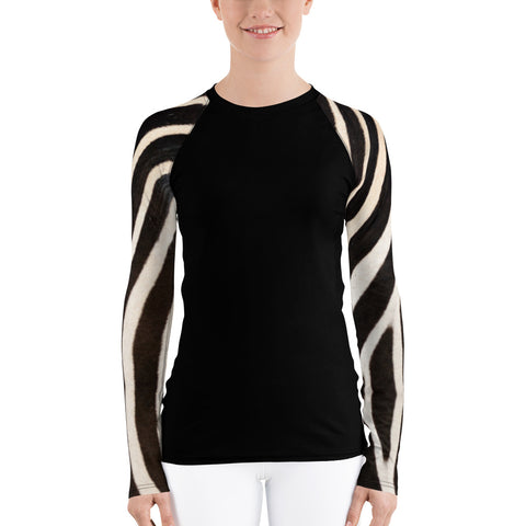 Zebra Long Sleeve Tops