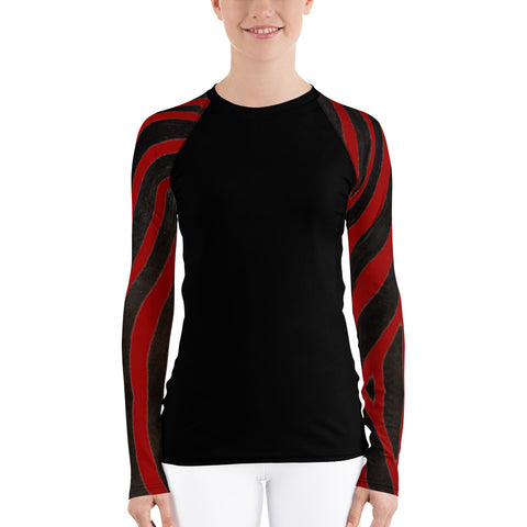 Red Zebra Long Sleeve Tops