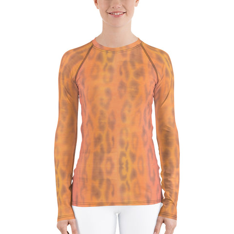 Ombre Leopard Long Sleeve Tops