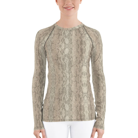 Authentic Snake Skin Long Sleeve Tops
