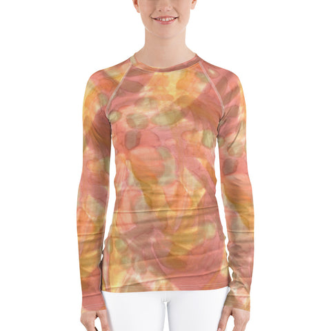 Watercolor Smudge Long Sleeve Tops