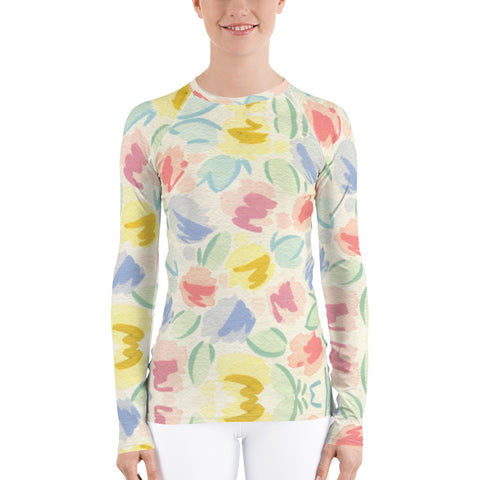 Blurred Tulip Long Sleeve Tops