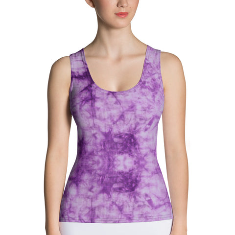 Purple Tie Dye Tank Top