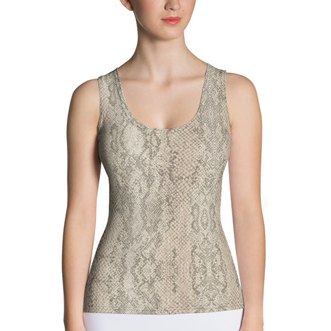 Authentic Snake Skin Print Tank Top