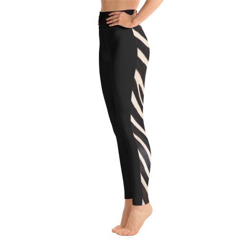 Side Zebra Yoga Leggings