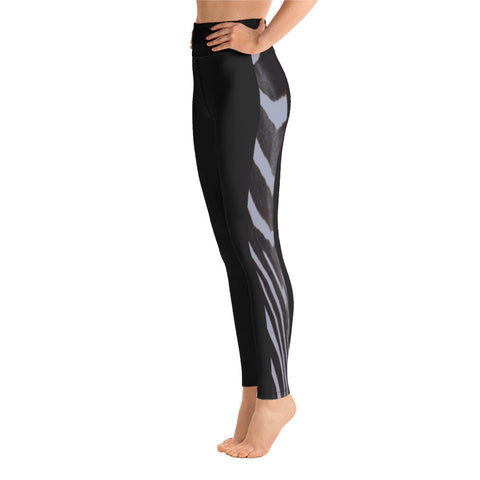 Grey Side Zebra Yoga Leggings