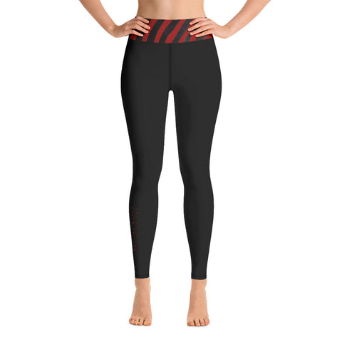 Red Zebra Trim Yoga Leggings