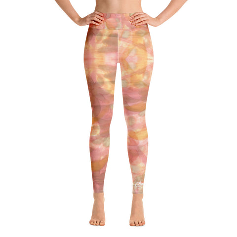 Watercolor Smudge Yoga Leggings