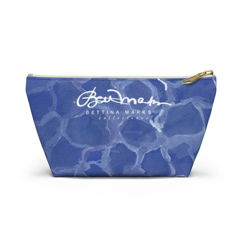 Blue Pool Accessory Pouch w T-bottom