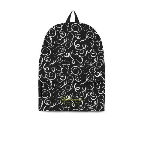 B&W Squiggles Back Pack