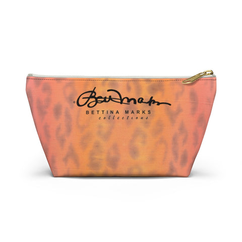 Ombre Leopard Accessory Pouch w T-bottom