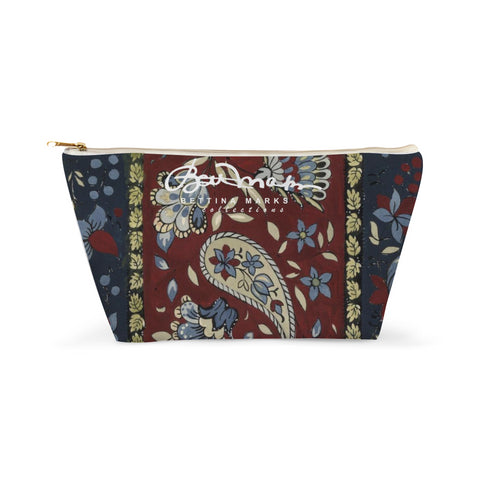 Paisley Stripe Accessory Pouch T-Bottom