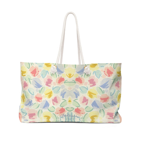 Blurred Tulip Weekender Bag
