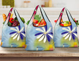 Sunrise Floral Grocery Bag