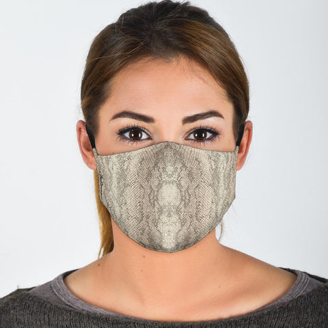 Premium Face Mask Authentic Snake Skin Print