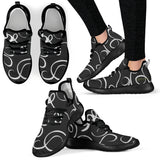 B&W Squiggles Mesh Knit Sneakers