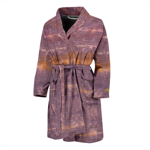 Purple Sunset Tie Dye Bath Robe - Men