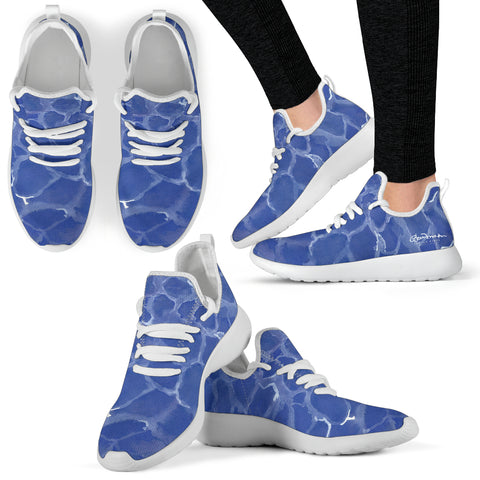 Blue Pool Mesh Knit Sneakers