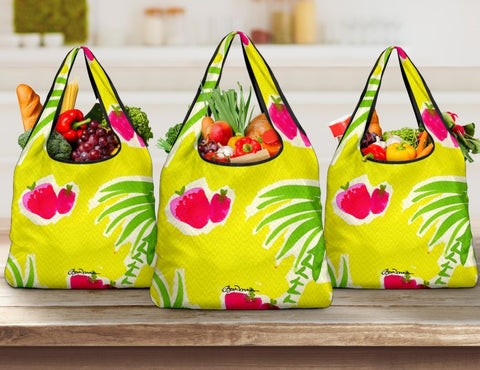 Strawberry Tropical Grocery Bag