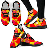 Sixties Floral Mesh Knit Sneakers