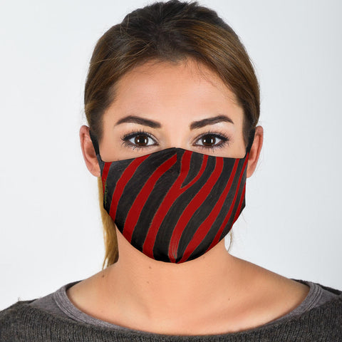 Premium Face Mask Red Zebra