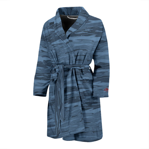 Teal Lava Lamp Bath Robe - Men