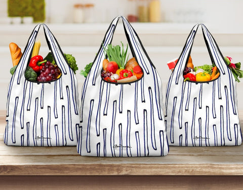 Nautical Crew Grocery Bag