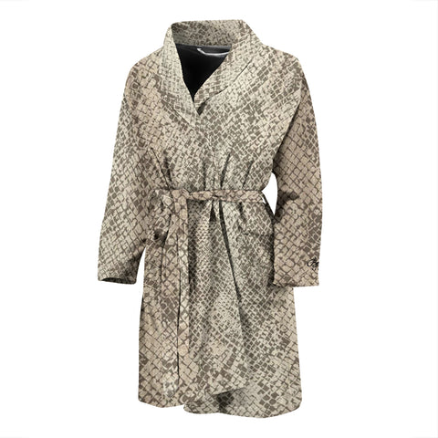 Authentic Snake Skin Print Bath Robe - Men