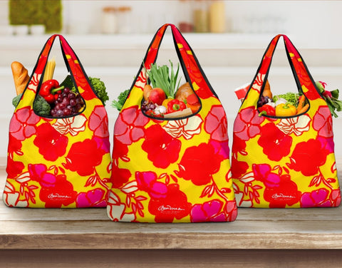 Sixties Floral Grocery Bag