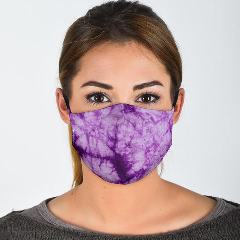 Premium Face Mask Purple Tie Dye