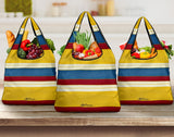 French Beach Chair Stripe Grocery Bag