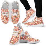 Retro Paisley Mesh Knit Sneakers