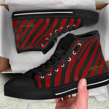 Red Zebra High Top Sneakers