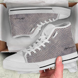 Crocodile Skin High Top Sneakers