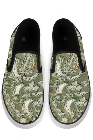 Floral Paisley Slip On Sneakers - x
