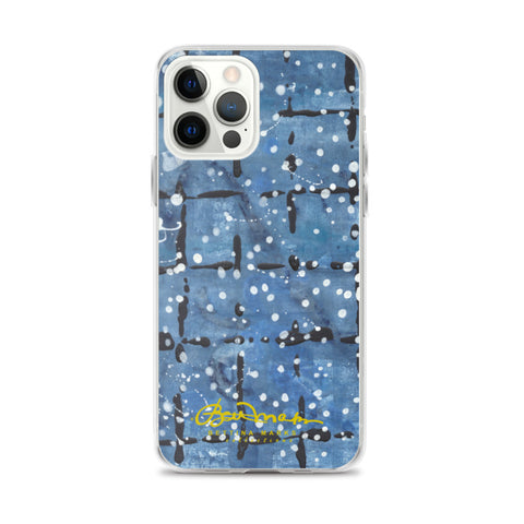 Blu&White Dotted Plaid iPhone Case (select model)
