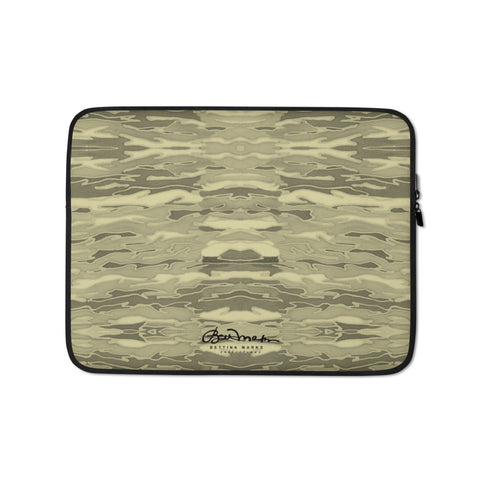 Khaki Lava Lamp Laptop Sleeve