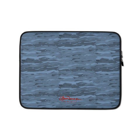 Teal Lava Lamp Laptop Sleeve