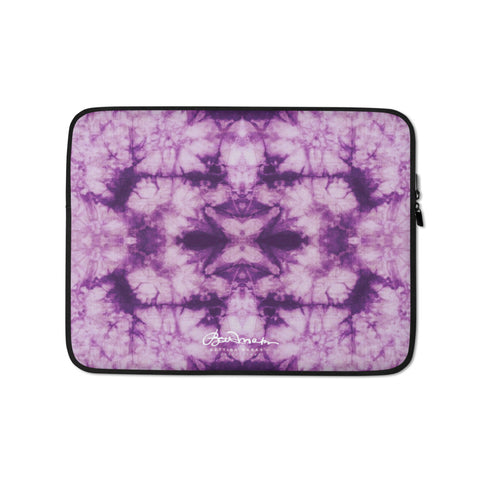 Purple Tie Dye Laptop Sleeve